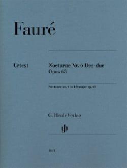 Nocturne n° 6 en ré bémol majeur op. 63 FAURÉ Partition laflutedepan