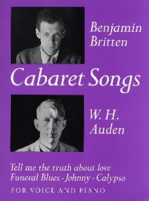 4 Cabaret Songs - BRITTEN - Partition - Mélodies - laflutedepan.com