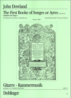 The 1st Booke Of Songs or Ayres DOWLAND Partition laflutedepan