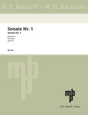 Sonate N°1 Op. 74 GLAZOUNOV Partition Piano - laflutedepan