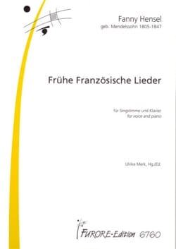 16 Frühe Französiche Lieder Fanny Hensel-Mendelssohn laflutedepan