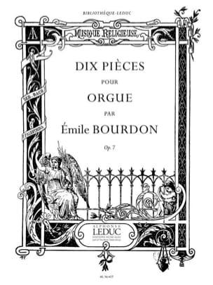 10 Pièces Opus 7 Emile Bourdon Partition Orgue - laflutedepan