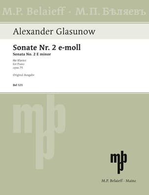 Sonate n° 2 Opus 75 GLAZOUNOV Partition Piano - laflutedepan
