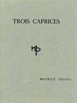 3 Caprices Maurice Ohana Partition Piano - laflutedepan