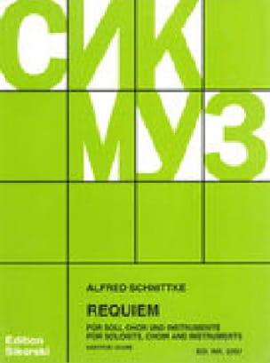 Requiem. Conducteur - SCHNITTKE - Partition - Chœur - laflutedepan.com