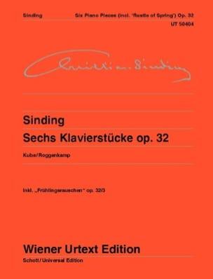6 klavierstücke op. 32 Christian Sinding Partition laflutedepan