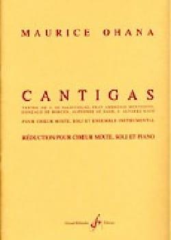Cantigas Maurice Ohana Partition Chœur - laflutedepan