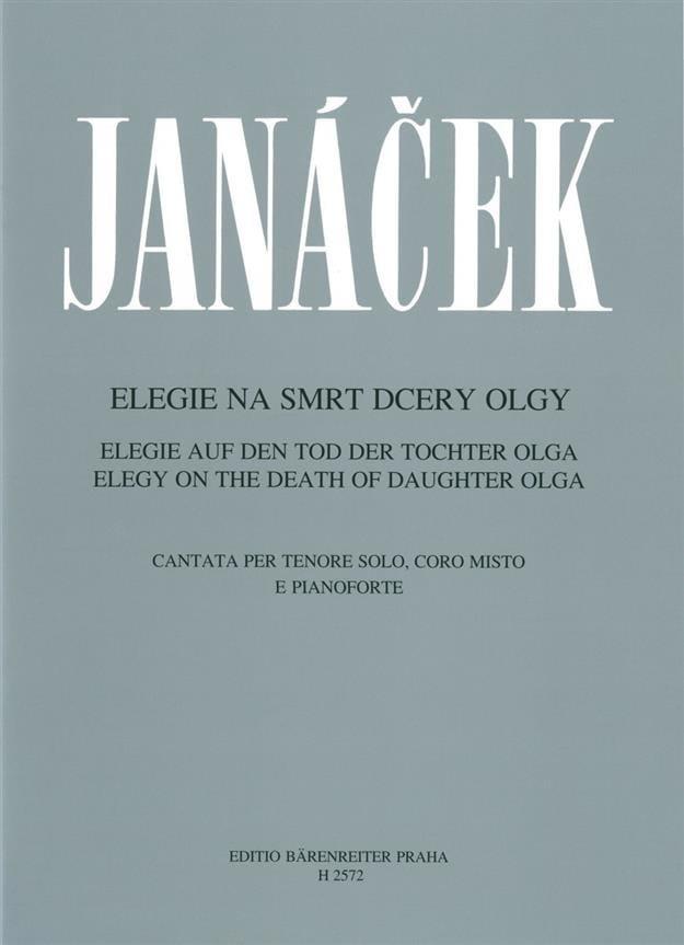 Elégie sur la Mort de sa Fille Olga. - JANACEK - laflutedepan.com
