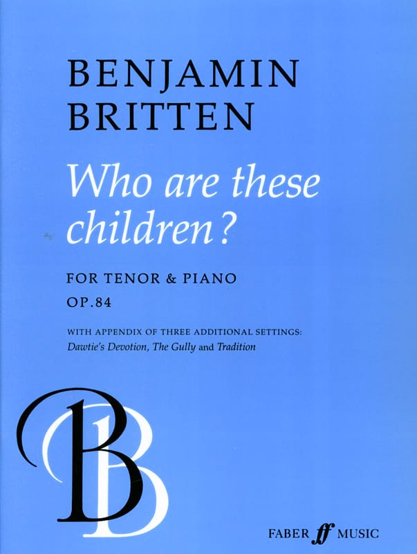 Who Are These Children Op. 84 - BRITTEN - Partition - laflutedepan.com