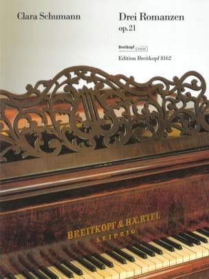 3 Romances Opus 21 Clara Schumann Partition Piano - laflutedepan