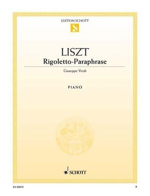 Rigoletto-Paraphrase LISZT Partition Piano - laflutedepan