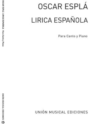 Lirica Espanola Op. 54 - Espla - Partition - laflutedepan.com