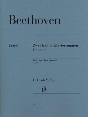 Sonates Opus 49-1 et 49-2 BEETHOVEN Partition Piano - laflutedepan