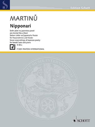 Nipponari H 68a MARTINU Partition Mélodies - laflutedepan