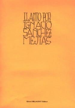 Llanto Por Ignacio Sanchez Meijas Maurice Ohana Partition laflutedepan