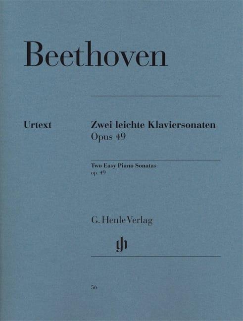 Sonates Opus 49-1 et 49-2 - BEETHOVEN - Partition - laflutedepan.com