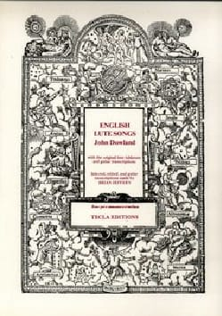 English Lute Songs DOWLAND Partition Luth - laflutedepan