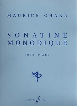 Sonatine Monodique Maurice Ohana Partition Piano - laflutedepan