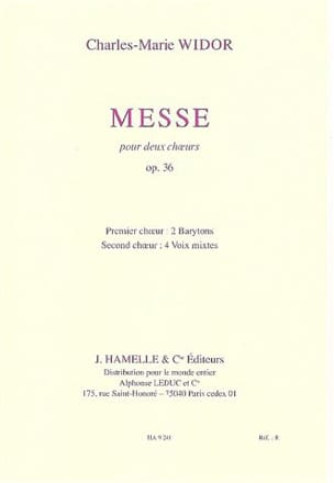 Messe Opus 36. Choeurs WIDOR Partition Chœur - laflutedepan