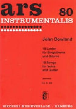 18 Lieder DOWLAND Partition Guitare - laflutedepan