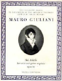 6 Ariette Opus 95 Mauro Giuliani Partition Guitare - laflutedepan