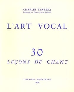 L'Art Vocal : 30 Leçons de Chant Charles Panzera Livre laflutedepan