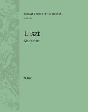 Malédiction LISZT Partition Piano - laflutedepan