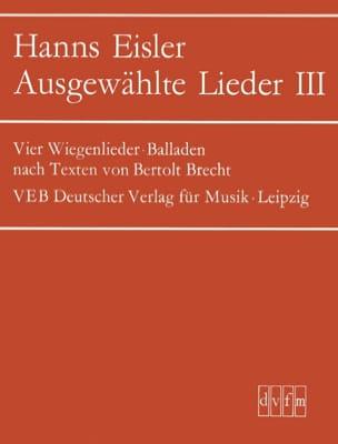 Ausgewählte Lieder 3 Hanns Eisler Partition Mélodies - laflutedepan