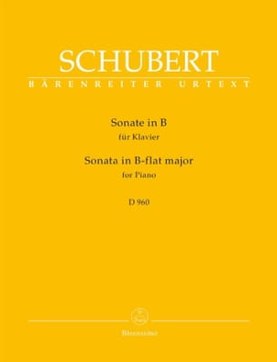 Sonate pour piano Si Bémol Majeur D 960 SCHUBERT laflutedepan
