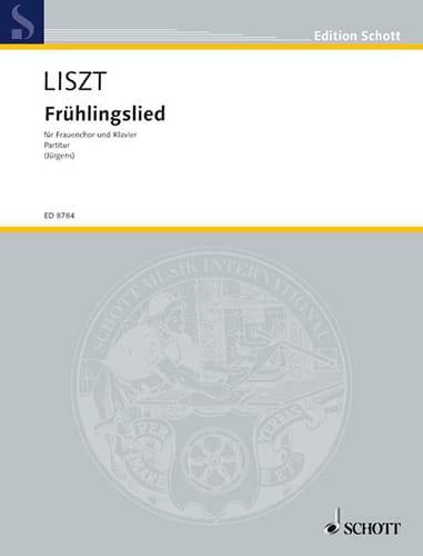 Frühlingslied - LISZT - Partition - Chœur - laflutedepan.com