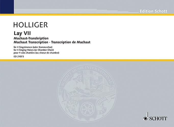 Lay VII - Heinz Holliger - Partition - laflutedepan.com