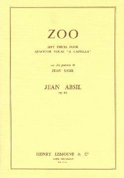 Zoo Opus 63 Jean Absil Partition Chœur - laflutedepan