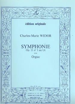 Symphonie n° 1 Opus 13 WIDOR Partition Orgue - laflutedepan