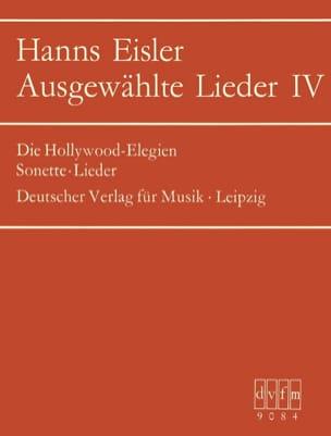 Ausgewählte Lieder 4 Hanns Eisler Partition Mélodies - laflutedepan