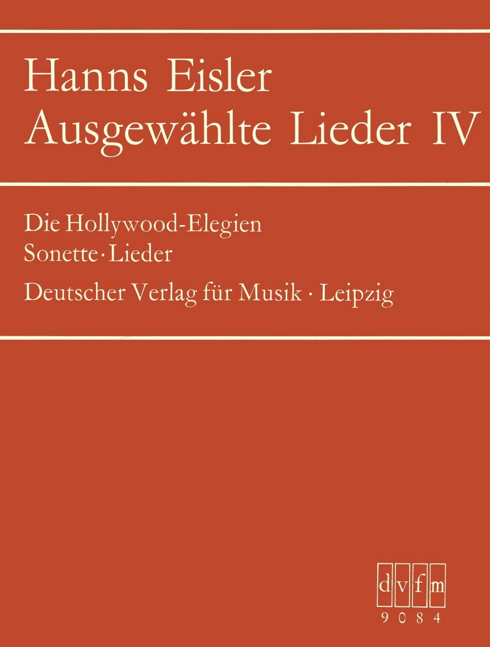 Ausgewählte Lieder 4 - Hanns Eisler - Partition - laflutedepan.com