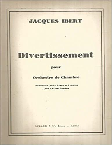 Divertissement - IBERT - Partition - Piano - laflutedepan.com