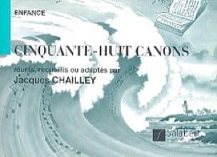 58 Canons 2 Voix. - Jacques Chailley - Partition - laflutedepan.com