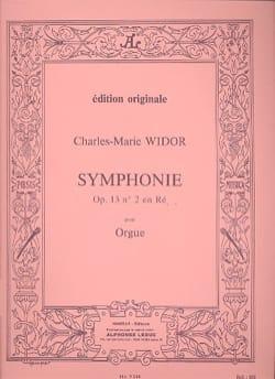 Symphonie n° 2 Opus 13 WIDOR Partition Orgue - laflutedepan