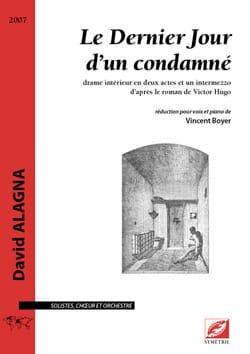 Le Dernier jour d'un condamné - David Alagna - laflutedepan.com