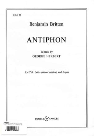 Antiphon Op. 56b BRITTEN Partition Chœur - laflutedepan