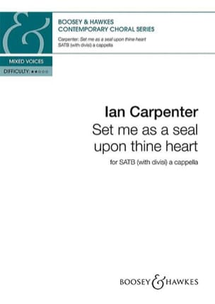 Set me as a seal upon thine heart Ian Carpenter Partition laflutedepan