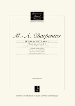 Motets à 2 voix. Volume 5 - CHARPENTIER - Partition - laflutedepan.com