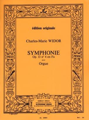 Symphonie n° 4 Opus 13 WIDOR Partition Orgue - laflutedepan