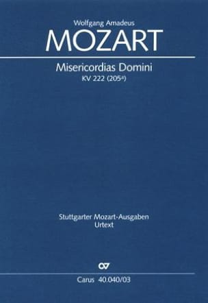 Misericordias Domini KV 222 205a MOZART Partition Chœur - laflutedepan