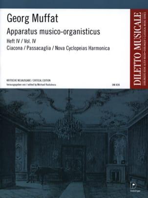Apparatus Musico-Organisticus Volume 4 Georg Muffat laflutedepan