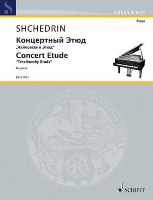 Etude de concert Rodion Chedrin Partition Piano - laflutedepan