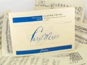 Clavier-Ubung 2ème Partie - Johann Ludwig Krebs - laflutedepan.com