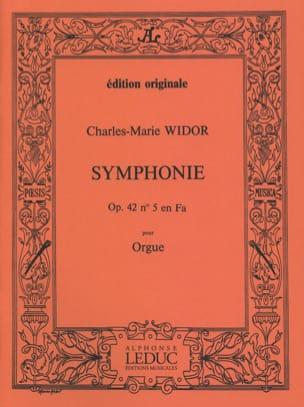 Symphonie n° 5 Opus 42 - WIDOR - Partition - Orgue - laflutedepan.be