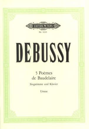 DEBUSSY - 5 poemas de Baudelaire - Partition - di-arezzo.es