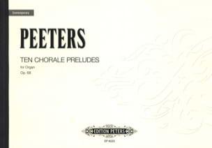 30 Choral Preludes Op. 68 Flor Peeters Partition Orgue - laflutedepan